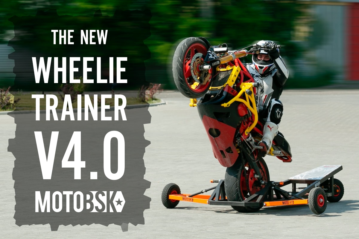 Wheelie Machine Folding V4.0 Motorcycle Wheelie Trainer MOTOBSK